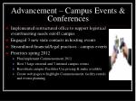 advancement campus events conferences