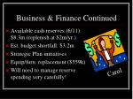 business finance continued
