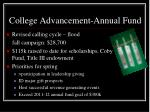 college advancement annual fund