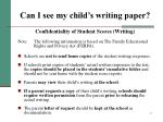 can i see my child s writing paper