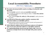 local accountability procedures sbe policy hsp n 006