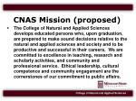 cnas mission proposed