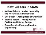new leaders in cnas