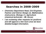 searches in 2008 2009