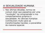 a sexualidade humana