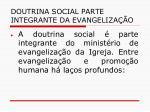 doutrina social parte integrante da evangeliza o