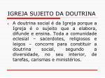 igreja sujeito da doutrina