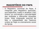 magist rio do papa