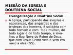 miss o da igreja e doutrina social