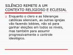 sil ncio remete a um contexto religioso e eclesial