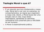 teologia moral o que