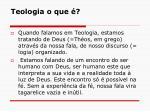 teologia o que