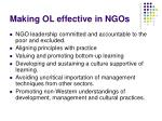 making ol effective in ngos