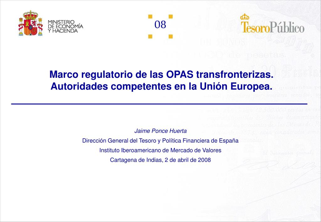 marco regulatorio de las opas transfronterizas autoridades competentes en la uni n europea l.
