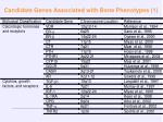 candidate genes associated with bone phenotypes 1
