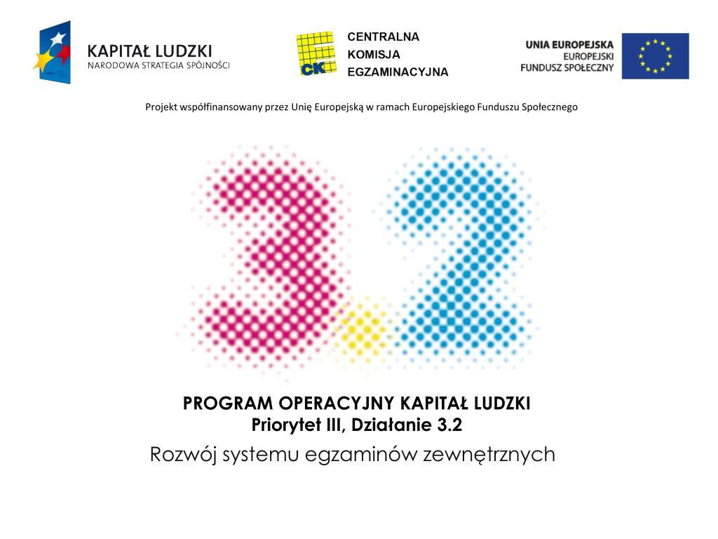 program operacyjny kapita ludzki priorytet iii dzia anie 3 2 l.