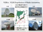 vera vlbi expolration of radio astrometry
