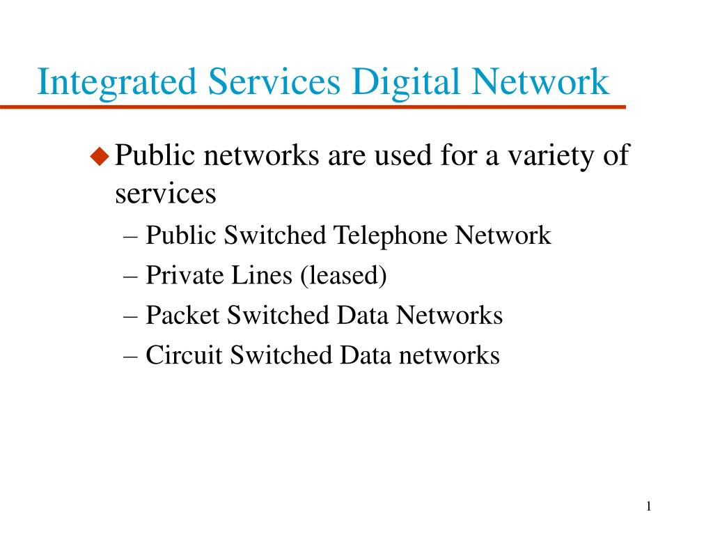 integrated services digital network l.