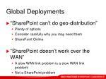 global deployments