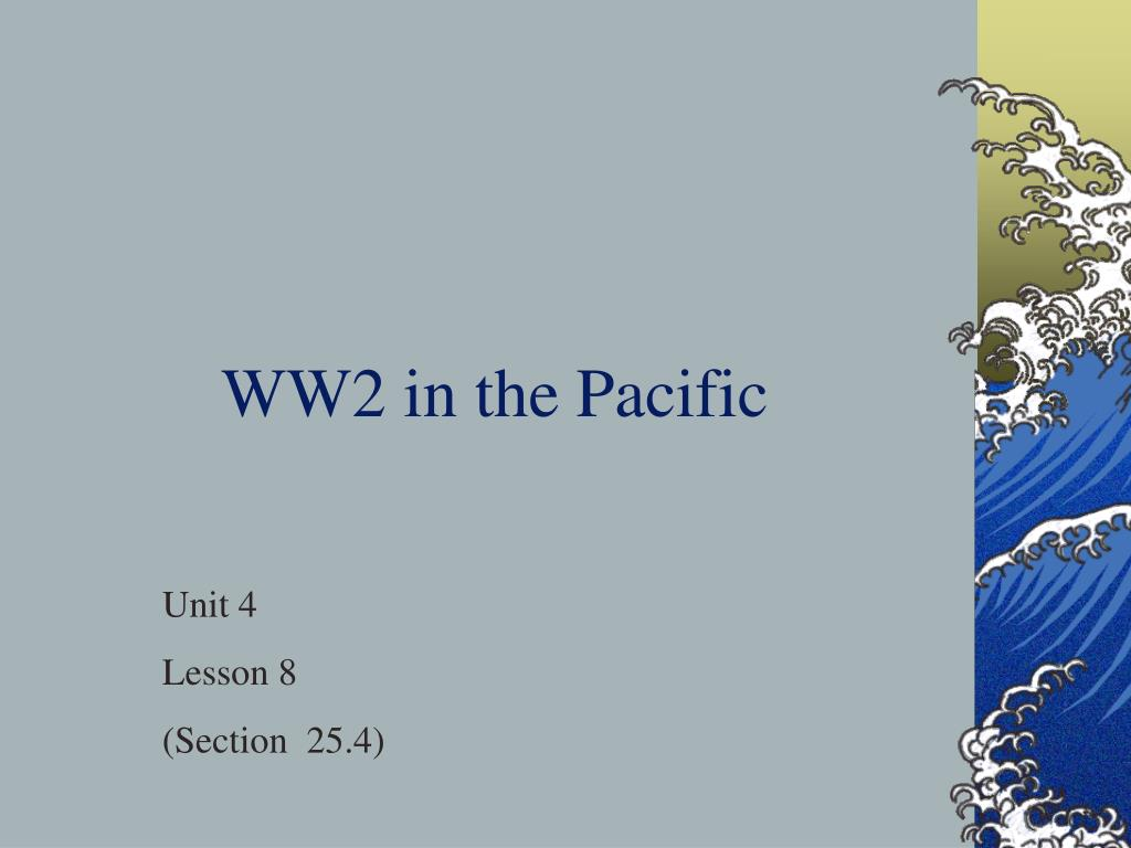 ww2 in the pacific l.
