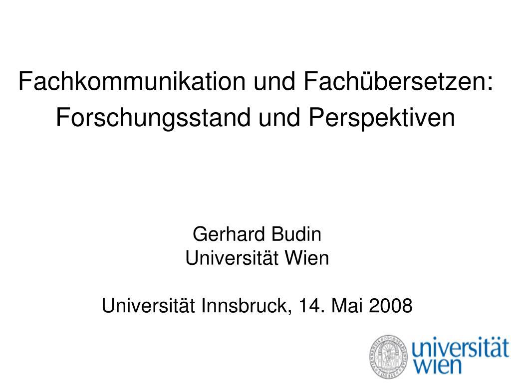 Ppt Fachkommunikation Und Fachübersetzen Forschungsstand