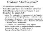 trends und zukunftsszenarien