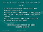 what regulators need from you1