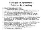 participation agreement publisher intermediary