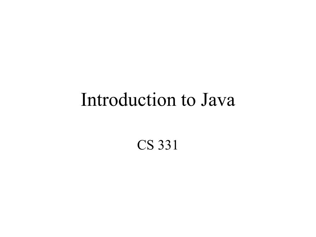 introduction to java l.