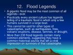 12 flood legends