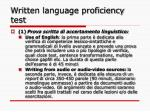 written language proficiency test