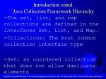 introduction contd java collection framework hierarchy