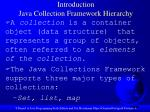 introduction java collection framework hierarchy