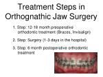 treatment steps in orthognathic jaw surgery