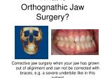 what is orthognathic jaw surgery