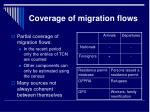 coverage of migration flows