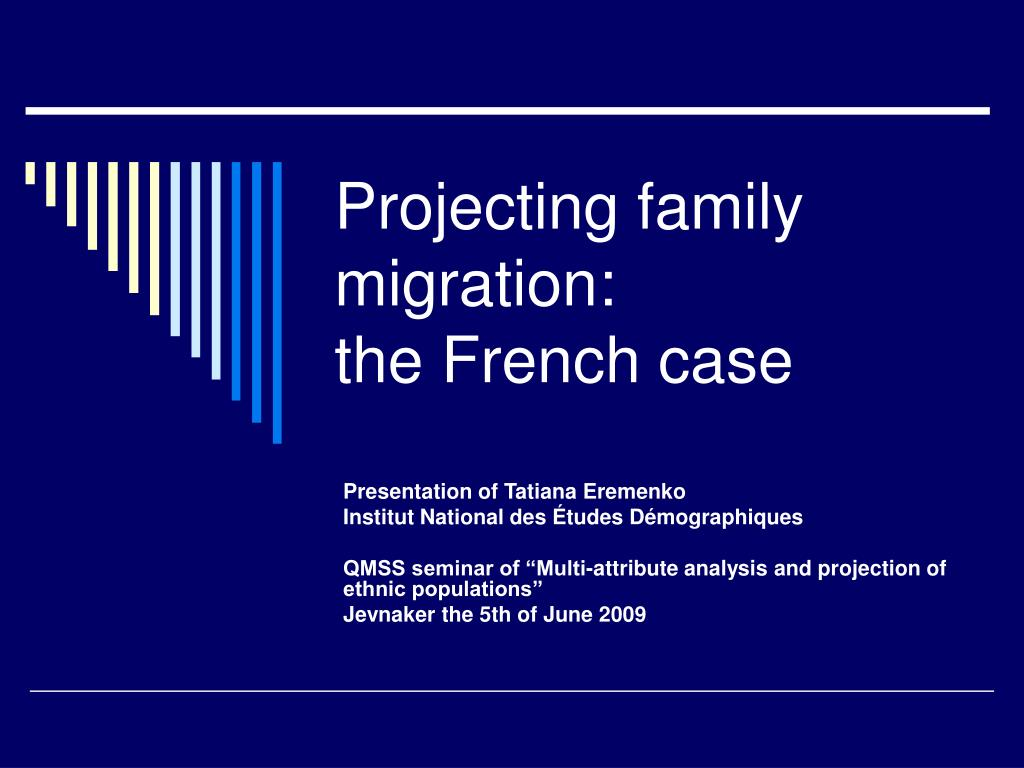 projecting family migration the french case l.