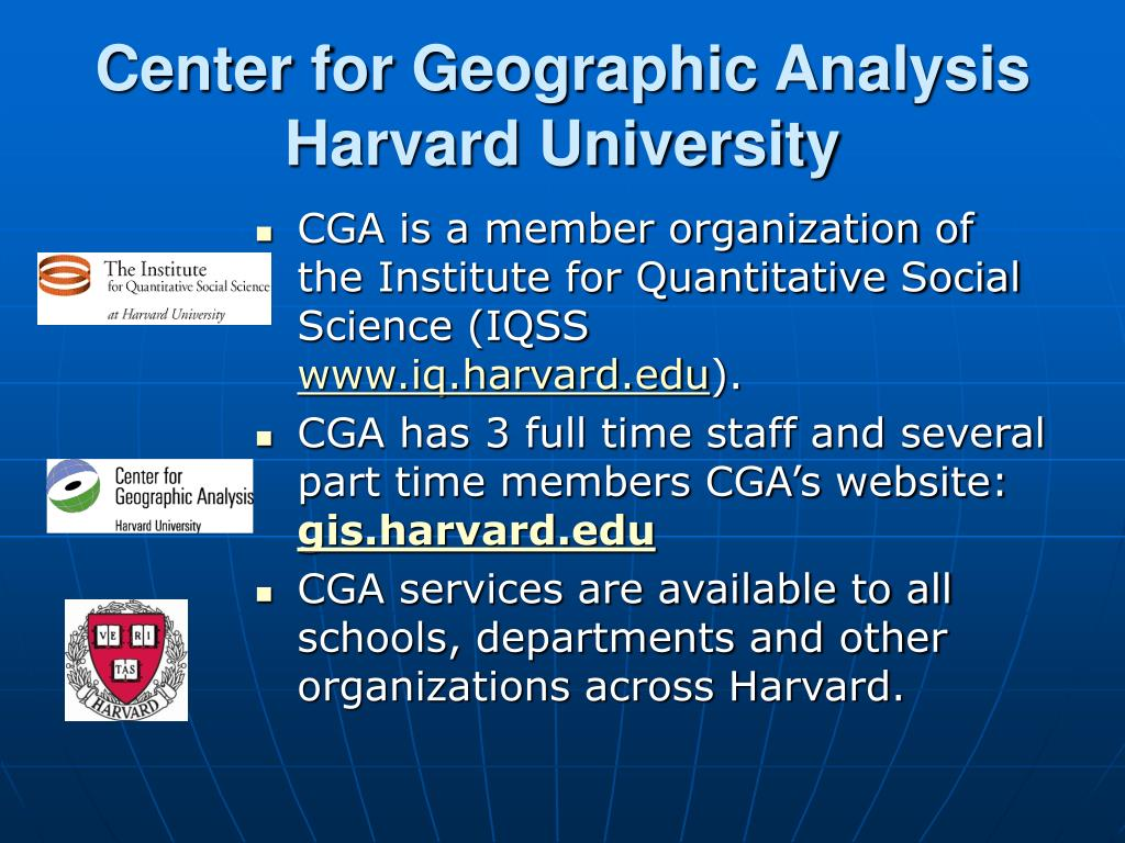 center for geographic analysis harvard university l.