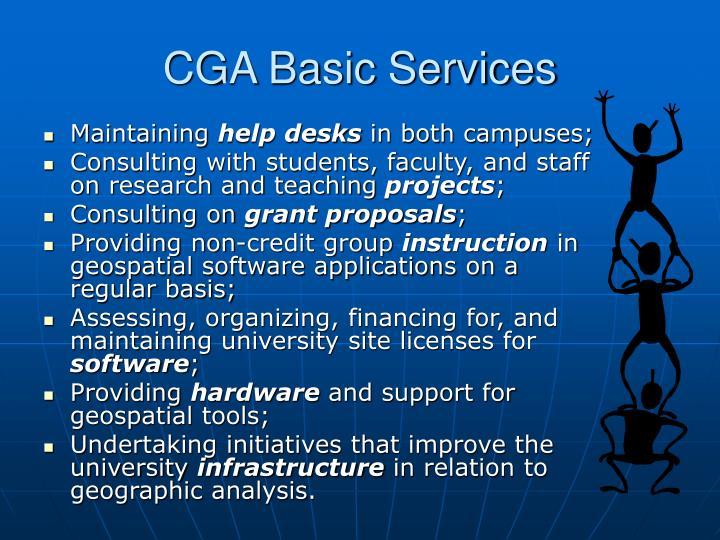 Cga basic services