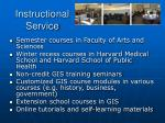 instructional service