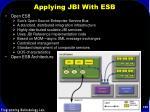 applying jbi with esb