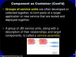 component as container cont d