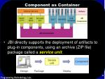 component as container