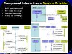 component interaction service provider