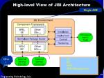 high level view of jbi architecture