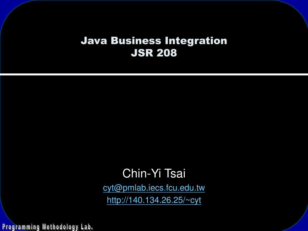 java business integration jsr 208 l.