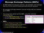 message exchange patterns meps