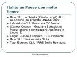 italia un paese con molte lingue