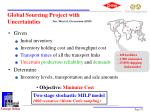global sourcing project with uncertainties