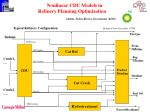 nonlinear cdu models in refinery planning optimization